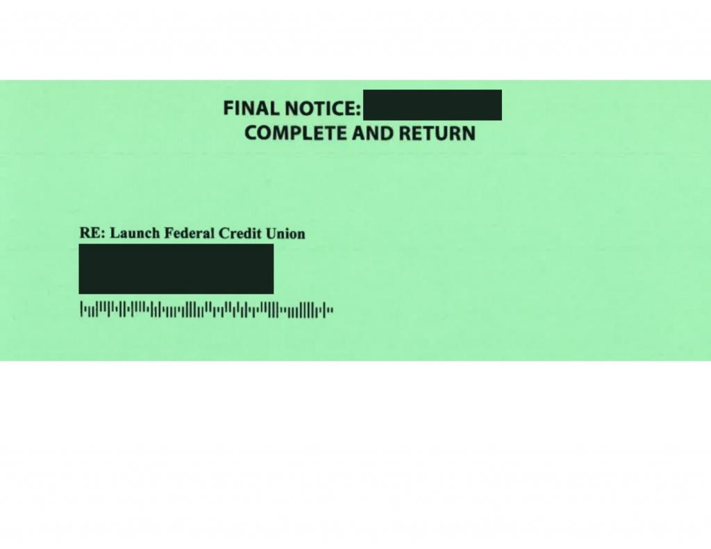 Mortgage Scam- Final Notice