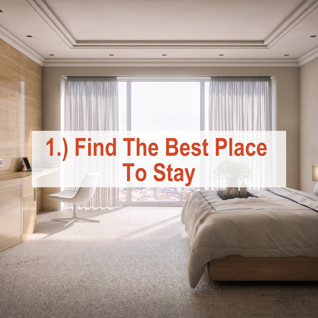Hotel room with bed and window | Find The Best Place To Stay
