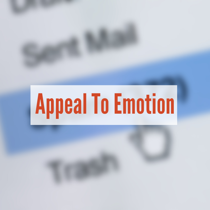 Email inbox with spam highlighted | Appeal To Emotion