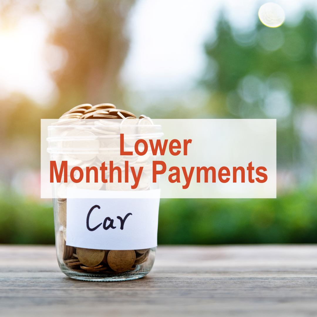 jar of coins sitting on table labeled with car | Lower Monthly Payments