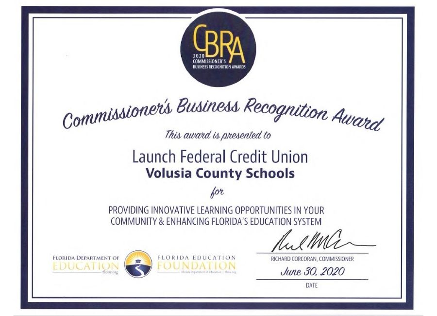 Commissioner's Business Recognition Award to Launch