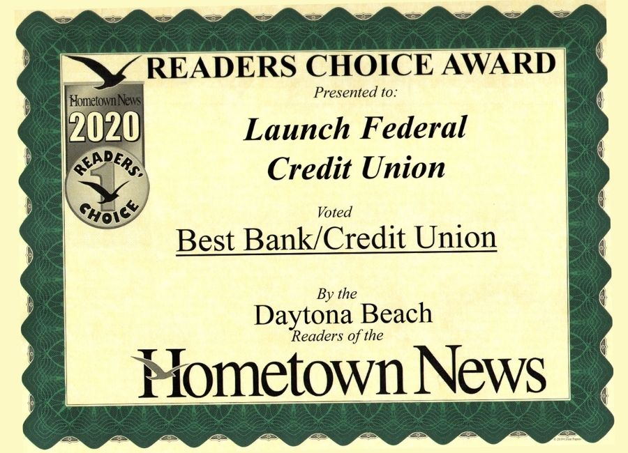 Launch Voted Best Credit Union in Daytona Beach by Hometown News