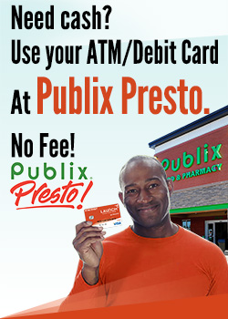 Use your ATM Debit card at Publix Presto for free