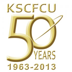 KSCFCU 50th Anniversary Logo Gold 3D