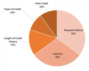 what makes up my credit score