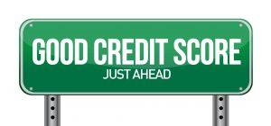 good credit score street sign