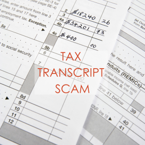 A pile of papers || Tax Transcript Scam