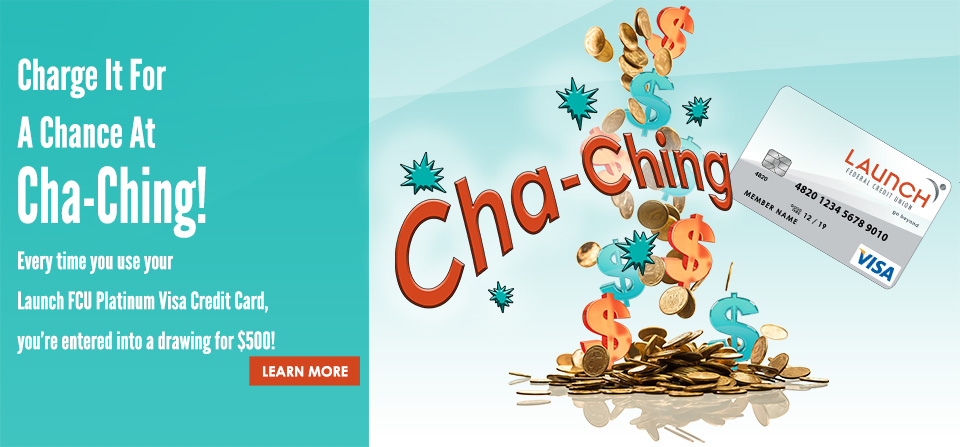 Charge For A Chance At CHA-CHING!