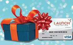 Launch Visa Card with a gift