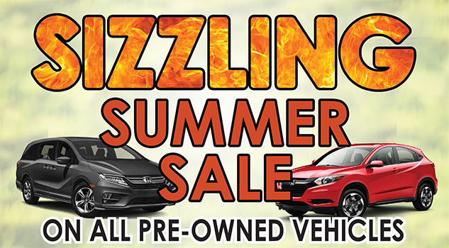 Sizzling Summer Sale on all pre-owned Vehicles