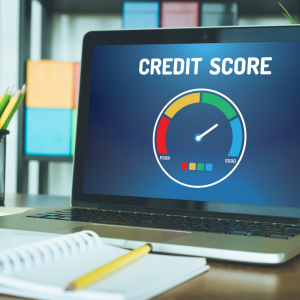 A computer screen showing what a good credit score for a low interest rate mortgage looks like.