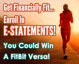 Woman running away from the sunset- Get Financing Fit...Enroll in E-Statements!