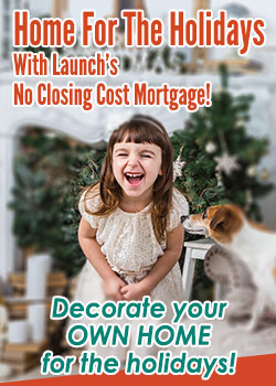 Little Girl and a Dog- Home For the Holidays No Closing Cost Mortgage