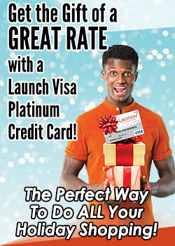 Man holding gift boxes- Get the Gift of a Great Rate With a Launch Visa