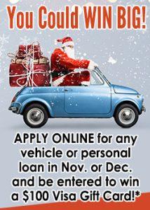 Win Big- Santa in a car