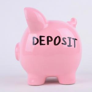 A pink piggy bank | Deposit
