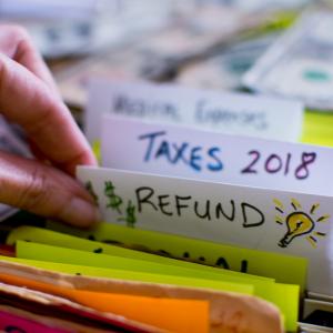 Filing Folder | Refund | Taxes 2018