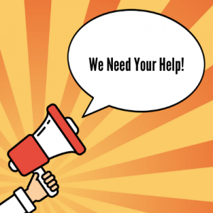 "Megaphone- ""We Need Your Help!"""