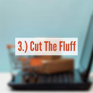 "shopping cart on computer ""Cut The Fluff"""