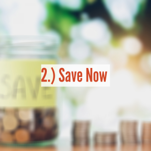 A jar of pennies and row of pennies next to it   Save Now
