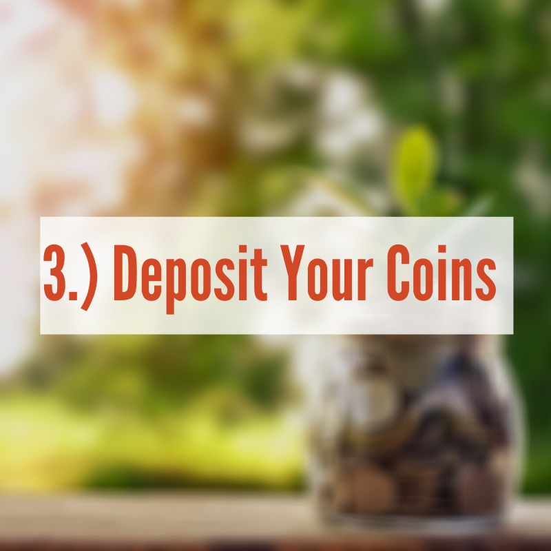 A jar of coins with plant growing out of it | Deposit Your Coins