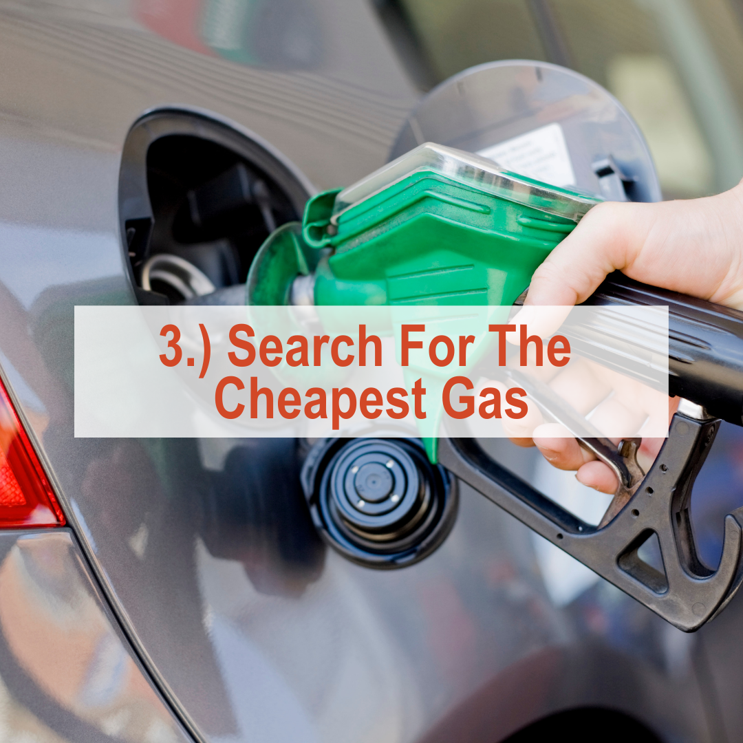Someone pumping gas into a car |Search For The Cheapest Gas