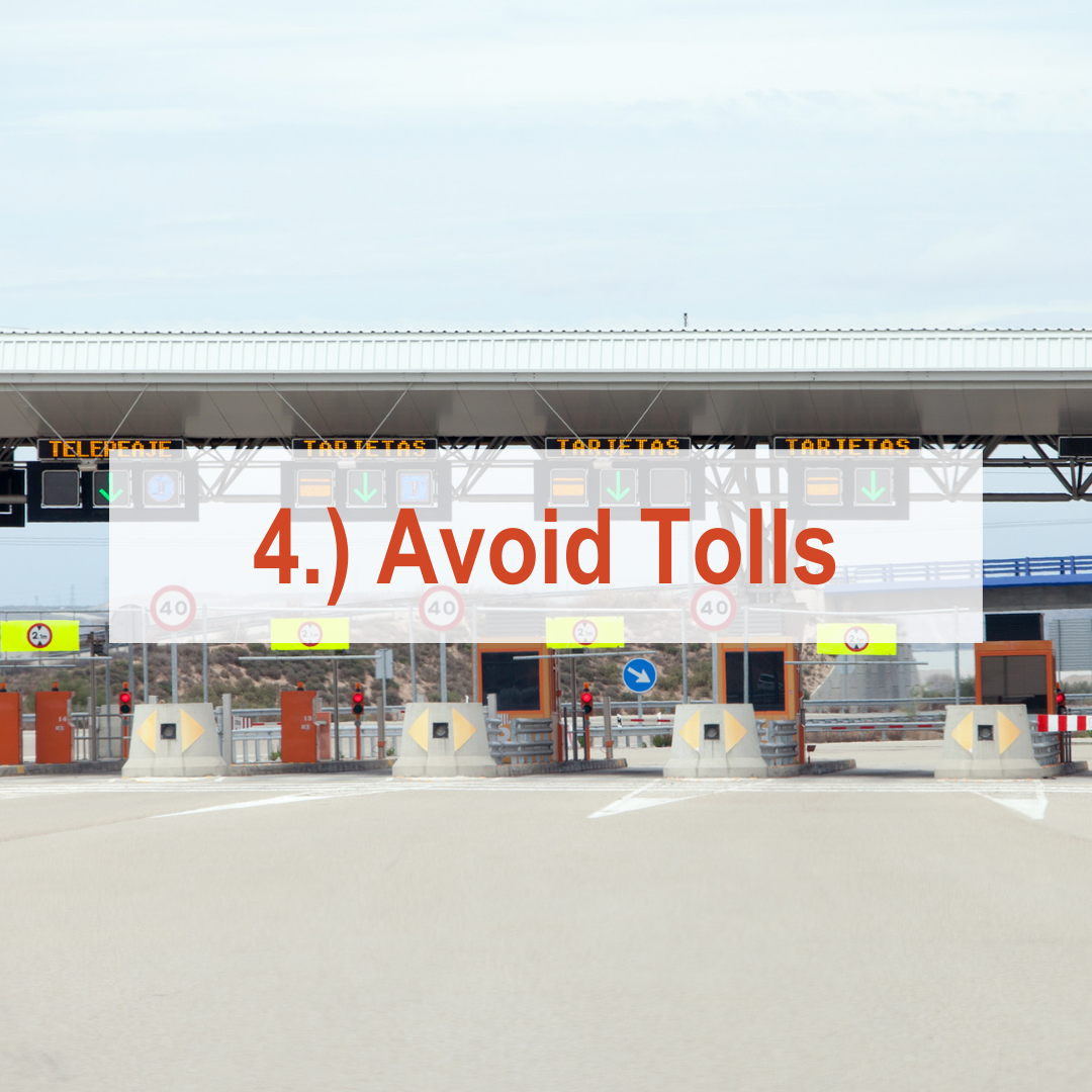 Toll plaza with cars | Avoid Tolls