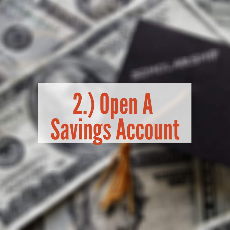 Pile of Money with graduation cap on top | Open A Savings Account