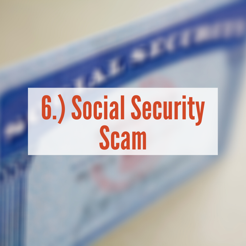 Social Security Card sitting on counter | Social Security Scam