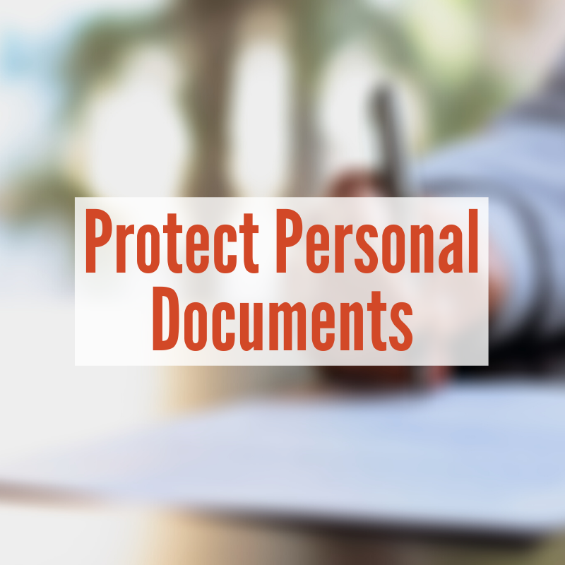 hand writing with pen on paper | Protect Personal Documents