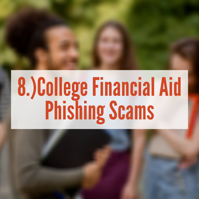 college students talking outside | College Financial Aid phishing scams