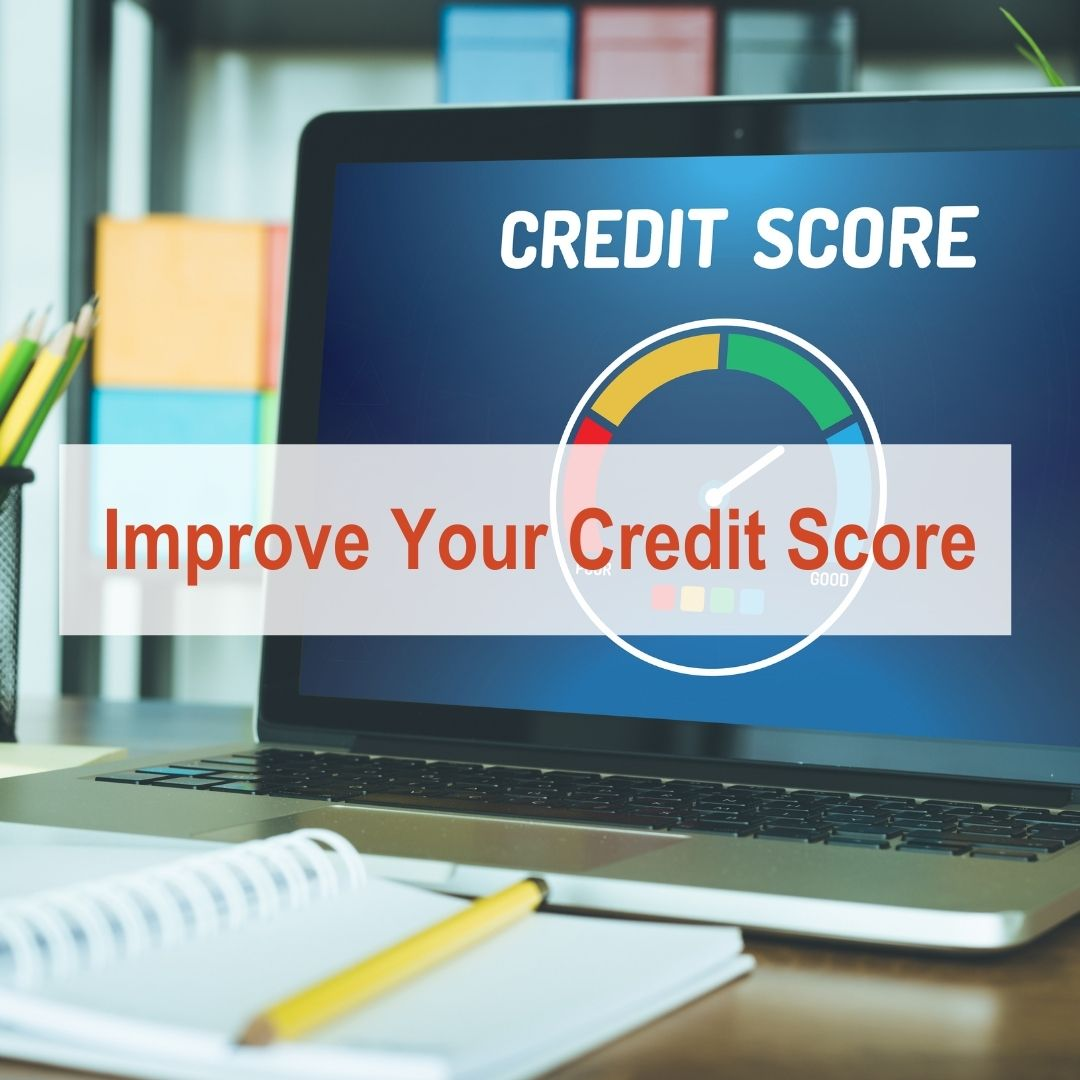 Laptop with credit score on it | Improve Your Credit Score