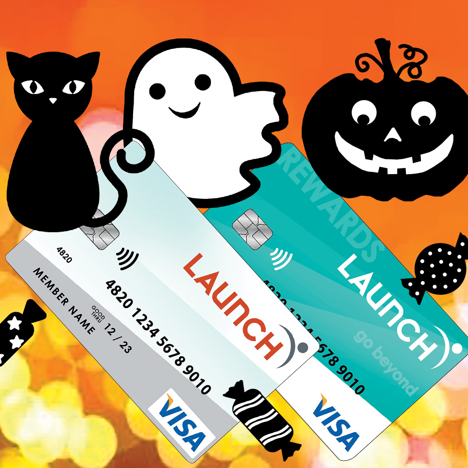Halloween theme with 2 Launch Credit Cards