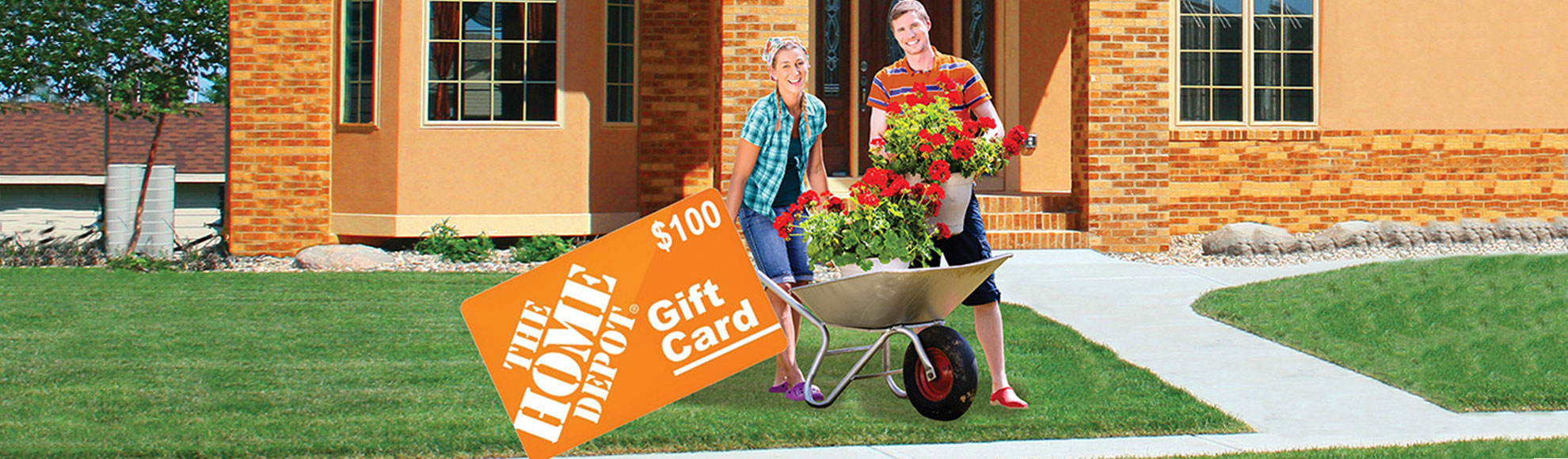 New homeowners and Home Depot gift card