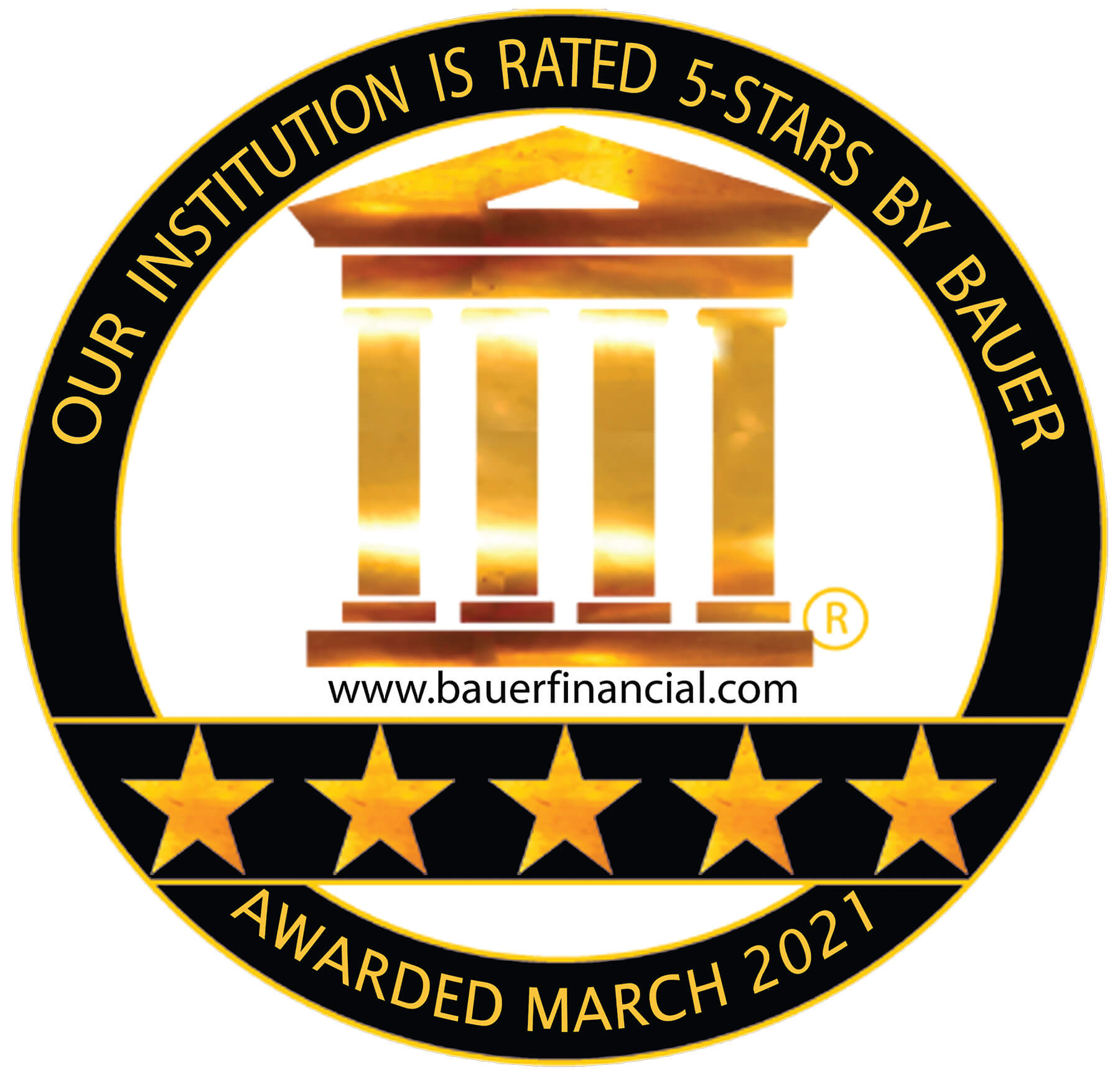 Our Institution is Rated 5-Stars by Bauer